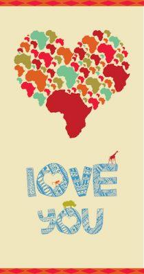 African Love-Love Card