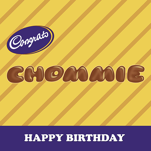 Congrats Chommie-Birthday Card