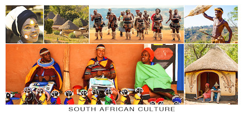 South African Culture Postcard