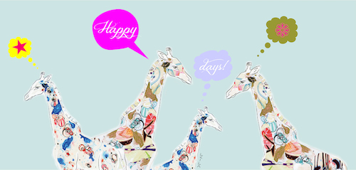Speech Bubble Giraffes-Celebrate Card