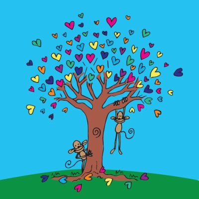 Tree of Hearts - Love Card