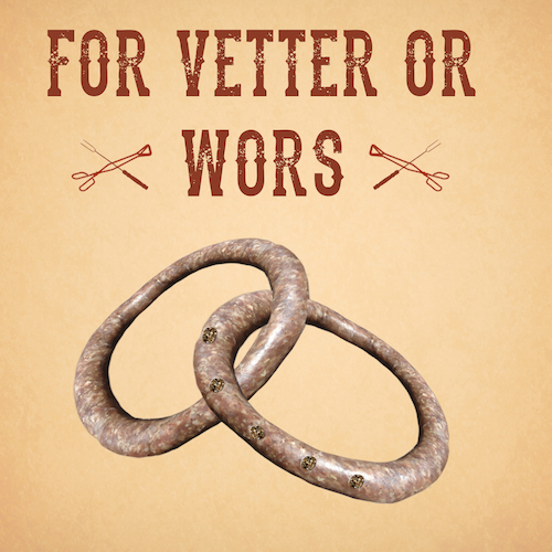 Vetter or Wors-Wedding Card