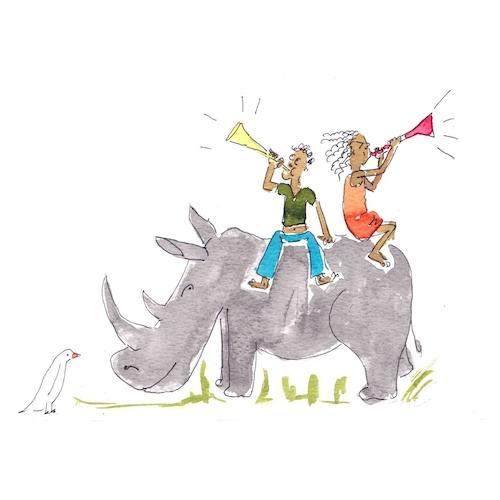 Vuvuzela Rhino-Celebrate Card