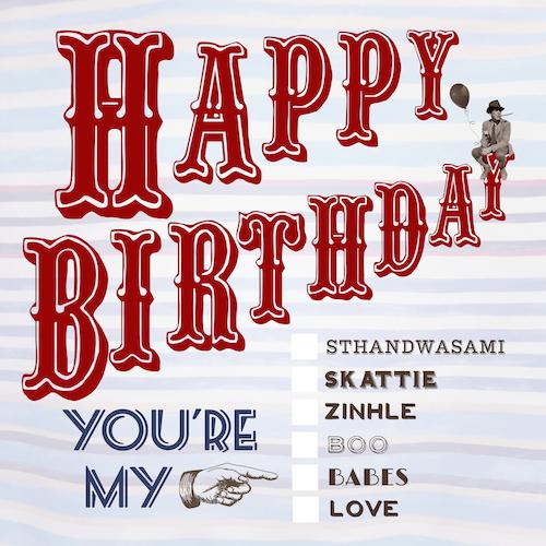 Youre my Checkbox-Birthday Card